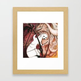 Ermine and Erhu Framed Art Print