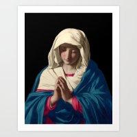 madonna Art Prints featuring Madonna by A Samuel