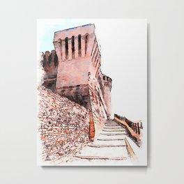 Brisighella: towers of the castle Metal Print