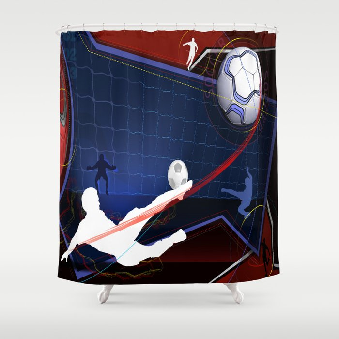 Soccer Shower Curtain By Robincurtiss