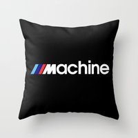 bmw Throw Pillows featuring BMW Machine by Vehicle