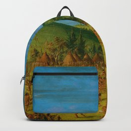 Classical Masterpiece 'Ball play of the Choctaw' by George Catlin Backpack