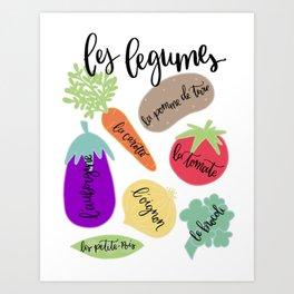 Les Legumes Art Print