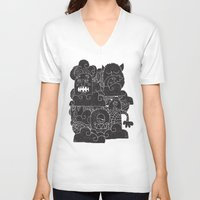 monsters inc V-neck T-shirts featuring MONSTERS by Matthew Taylor Wilson