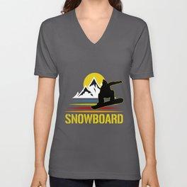 Snowboard Unisex V-Neck