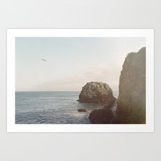 A Break From the Pack in Big Sur Art Print