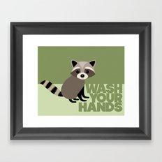 Kids' Bathroom - Wash Your Hands Framed Art Print