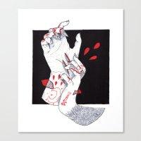 werewolf Canvas Prints featuring Werewolf by scoobtoobins
