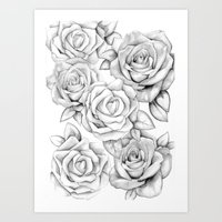 roses Art Prints featuring roses by iphigenia myos