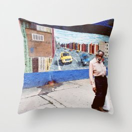 """Man in the Corner (From series """" Life is a Street """") Throw Pillow"""