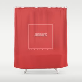kenny (red) Shower Curtain