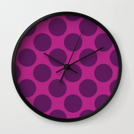 Purple Dot Wall Clock