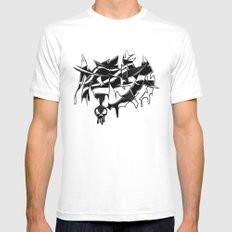 MMA White Mens Fitted Tee MEDIUM