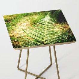 Green Fern Side Table