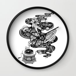 Cosmos Space Music Wall Clock