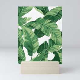 Tropical banana leaves IV Mini Art Print