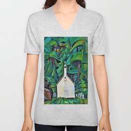 Emily Carr - The Indian Church - Digital Remastered Edition Unisex V-Neck