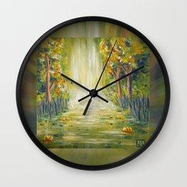 Acrylic Painting: Breathe Wall Clock