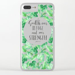 Psalm 46:1 Clear iPhone Case