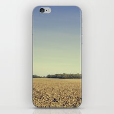 Lonely Field in Blue iPhone & iPod Skin