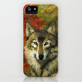 October Wolf iPhone Case