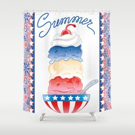 Summer Sundae Shower Curtain