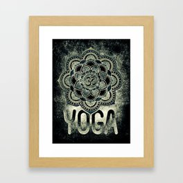 Sacred Geometry for your daily life - OHM DARKIE Framed Art Print
