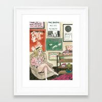 the smiths Framed Art Prints featuring Daisy: The Smiths Fan by glitterfang
