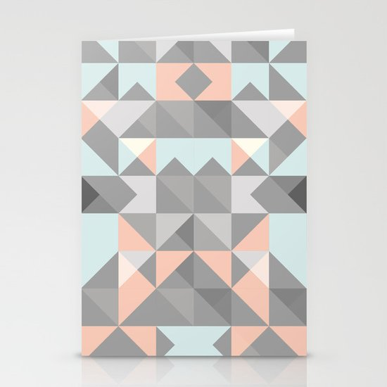Triangular Pattern Stationery Cards
