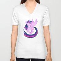 twilight V-neck T-shirts featuring twilight by tsurime