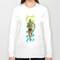 run Long Sleeve T-shirts featuring Run by Akyanyme