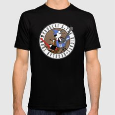 Mordecai and the Rigbys Black SMALL Mens Fitted Tee