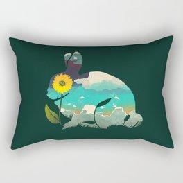 Rabbit Sky - (Forest Green) Rectangular Pillow