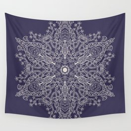Spring Garden Mandala Ultra Violet Wall Tapestry