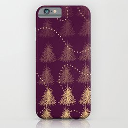 Fading Trees red iPhone Case