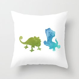 Lizards Inspired Silhouette Throw Pillow