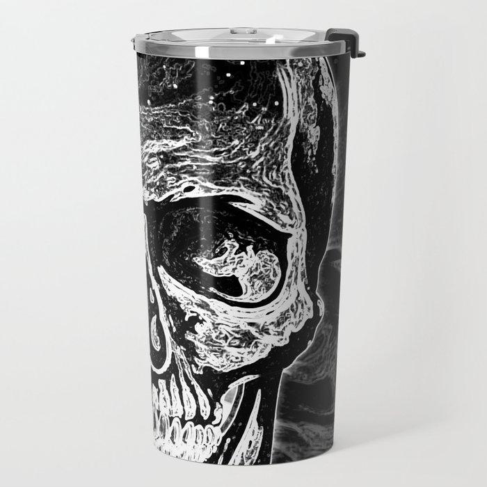 Skull (Black and White) Travel Mug