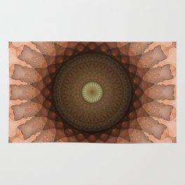 Mandala in skin and brown color tones Rug