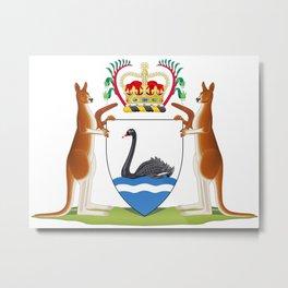 Coat of Arms of Western Australia Metal Print