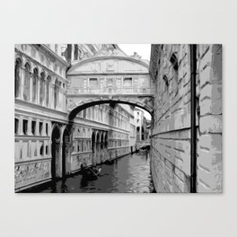 The Bridge of Sighs in Venice Italy Travel Canvas Print