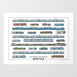 The Transit of Greater Seattle (small) Art Print