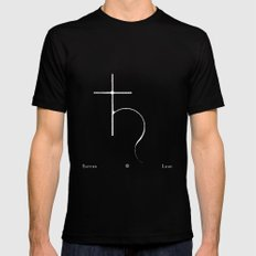 Saturn Black Mens Fitted Tee MEDIUM