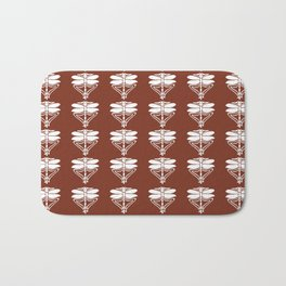 Copper Red Arts and Crafts Dragonflies Bath Mat