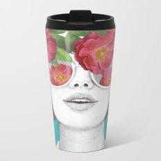The optimist // rose tinted glasses Metal Travel Mug