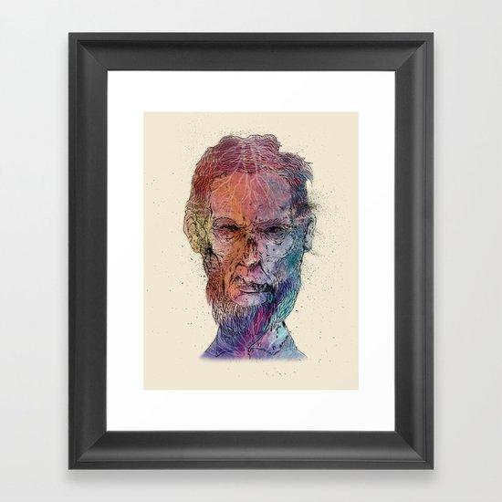 Zombie Lincoln Framed Art Print