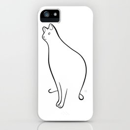 Linear Cat 01 iPhone Case