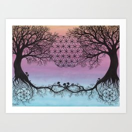 The Network of Life Art Print