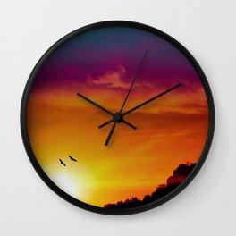At the rising sun Wall Clock