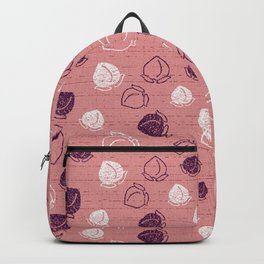 pink and red berries pattern Backpack