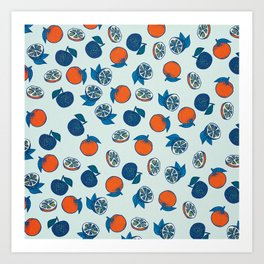 Naranja Pattern Art Print